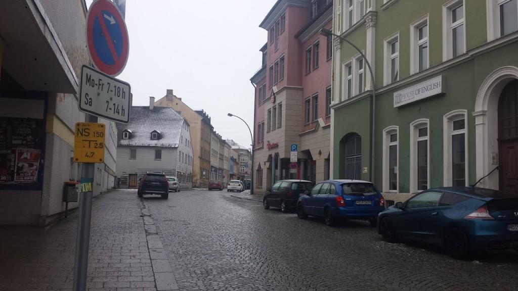 Blick in die hofer Schillerstraße